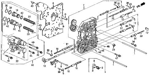 1993 accord DX 2 DOOR 4AT AT MAIN VALVE BODY diagram