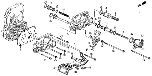 1992 accord EX 2 DOOR 4AT AT SERVO BODY diagram