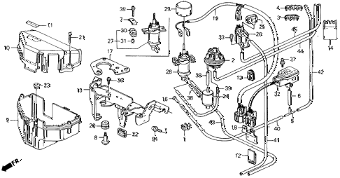 1992 accord EX 2 DOOR 5MT CONTROL BOX diagram
