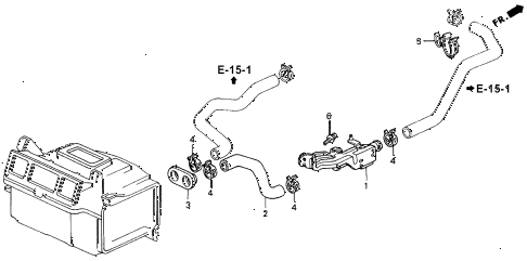 1993 accord LX 2 DOOR 4AT WATER VALVE diagram