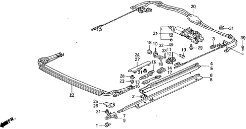 1993 accord SE 2 DOOR 4AT SUNROOF MOTOR diagram