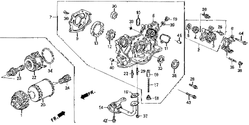 1993 accord EX 2 DOOR 5MT OIL PUMP - OIL STRAINER diagram