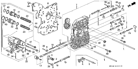 1993 accord LX(ANNIVERSARY ED 4 DOOR 4AT AT MAIN VALVE BODY diagram