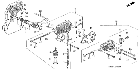1993 accord DX 4 DOOR 4AT AT REGULATOR diagram