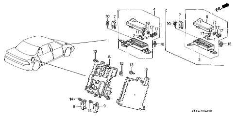 1993 accord EX 4 DOOR 4AT CONTROL UNIT (A.L.B.) diagram