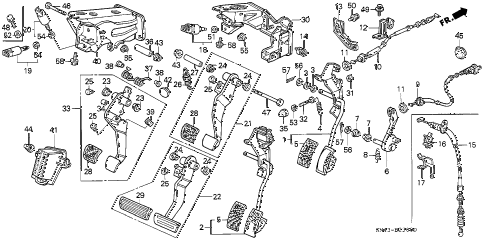 1993 accord DX 4 DOOR 4AT PEDAL diagram
