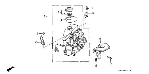 1993 accord SE 4 DOOR 4AT ABS MODULATOR (2) diagram