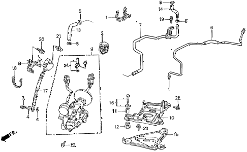 1992 accord EX 4 DOOR 5MT ABS ACCUMULATOR (2) diagram