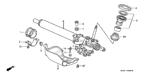 1992 accord LX 4 DOOR 5MT P.S. GEAR BOX diagram