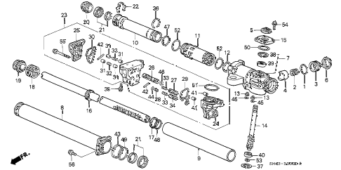 1990 accord EX 4 DOOR 4AT P.S. GEAR BOX COMPONENTS diagram