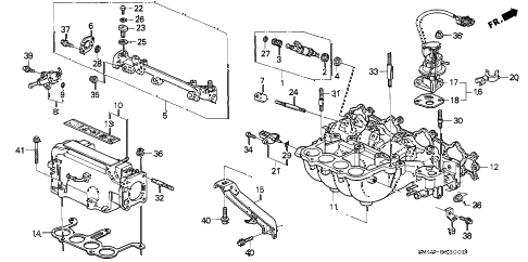 1993 accord DX 4 DOOR 4AT INTAKE MANIFOLD (1) diagram