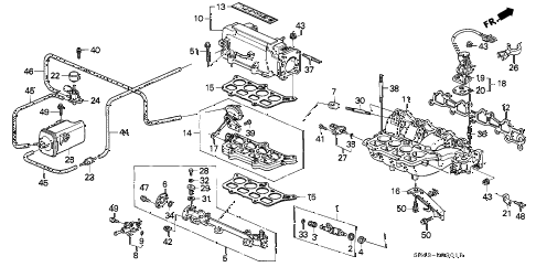 1992 accord EX 4 DOOR 5MT INTAKE MANIFOLD (2) diagram