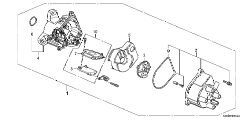 1992 accord DX 4 DOOR 5MT DISTRIBUTOR (TEC) (2) diagram