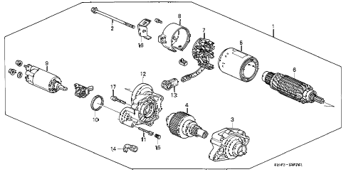 1993 accord EX 4 DOOR 4AT STARTER MOTOR (MITSUBA) diagram