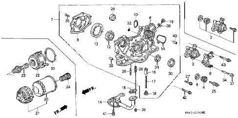 1991 accord EX 4 DOOR 5MT OIL PUMP - OIL STRAINER diagram