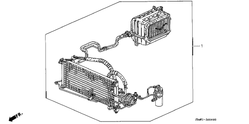 1991 accord DX 4 DOOR 4AT A/C KIT diagram