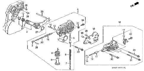 1992 accord EX 5 DOOR 4AT AT REGULATOR diagram
