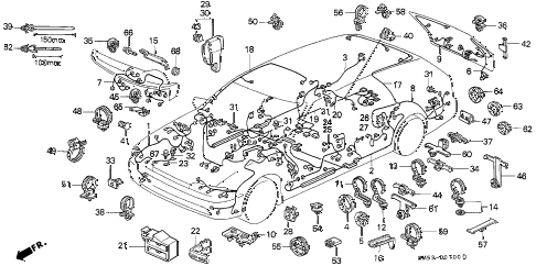 1991 accord EX 5 DOOR 4AT WIRE HARNESS diagram