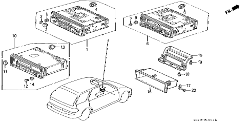 1993 accord LX 5 DOOR 4AT RADIO diagram