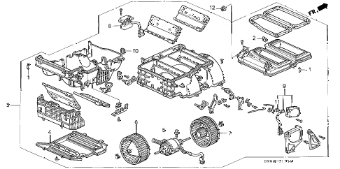 1992 accord EX 5 DOOR 5MT HEATER BLOWER diagram