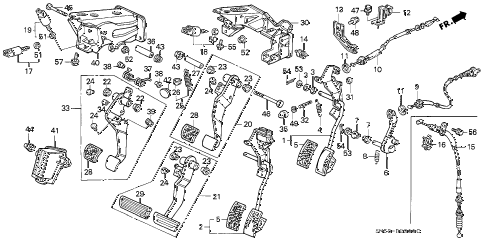 1992 accord EX 5 DOOR 4AT PEDALS diagram
