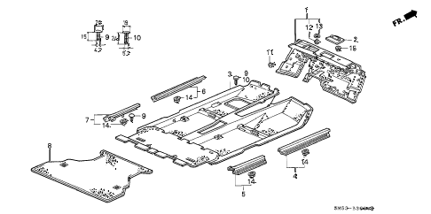 1992 accord LX 5 DOOR 4AT FLOOR MAT diagram