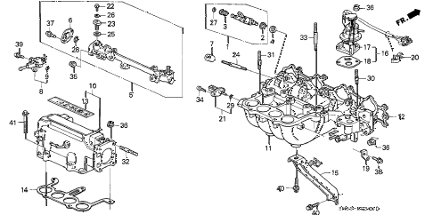 1991 accord LX 5 DOOR 4AT INTAKE MANIFOLD (1) diagram