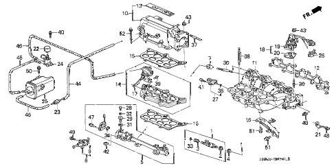 1993 accord EX 5 DOOR 4AT INTAKE MANIFOLD (2) diagram