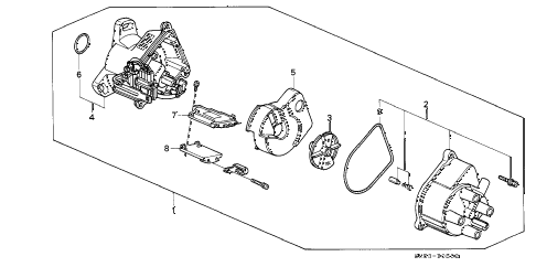 1992 accord EX 5 DOOR 5MT DISTRIBUTOR (TEC) (2) diagram