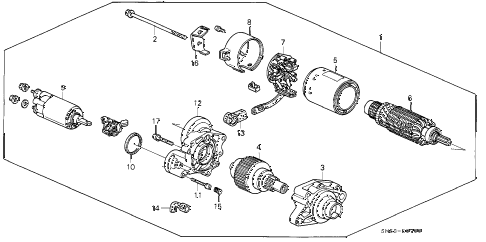 1993 accord EX 5 DOOR 5MT STARTER MOTOR (MITSUBA) diagram