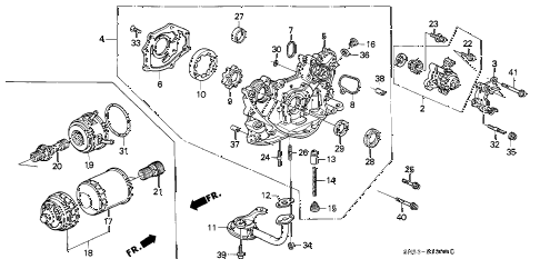 1993 accord LX 5 DOOR 5MT OIL PUMP - OIL STRAINER diagram