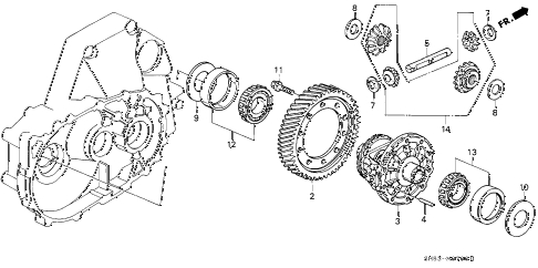 1991 accord LX 5 DOOR 5MT MT DIFFERENTIAL GEAR diagram