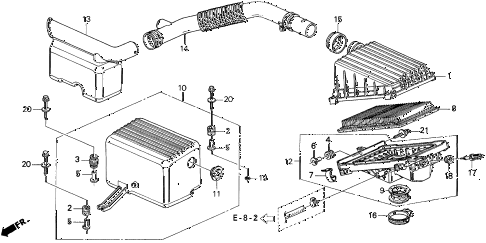 1996 del S 2 DOOR 5MT AIR CLEANER (2) diagram