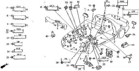 1995 del SI 2 DOOR 5MT WIRE HARNESS diagram