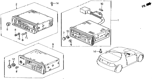 1997 del SI 2 DOOR 5MT AUTO RADIO diagram
