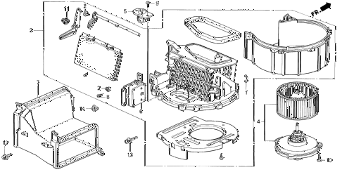 1997 del S 2 DOOR 5MT HEATER BLOWER diagram