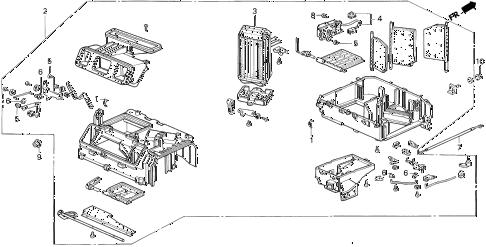 1993 del SI 2 DOOR 4AT HEATER UNIT diagram