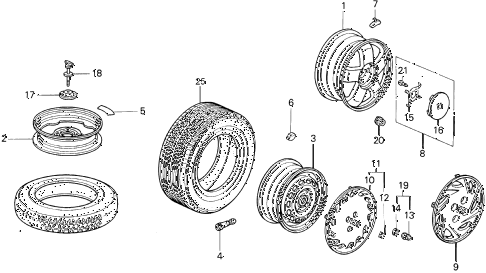 1996 del V-TEC 2 DOOR 5MT WHEELS diagram
