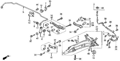 1994 del S 2 DOOR 5MT REAR LOWER ARM diagram