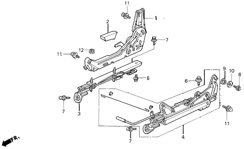 1997 del V-TEC 2 DOOR 5MT SEAT COMPONENTS (2) diagram
