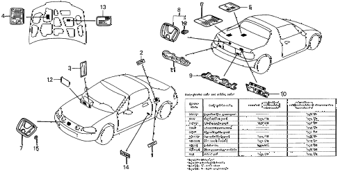 1995 del SI 2 DOOR 5MT EMBLEMS diagram