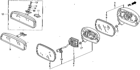1995 del V-TEC 2 DOOR 5MT MIRROR diagram