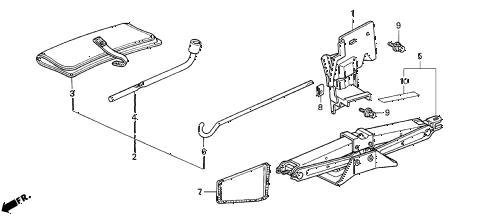 1996 del S 2 DOOR 5MT TOOLS - JACK diagram