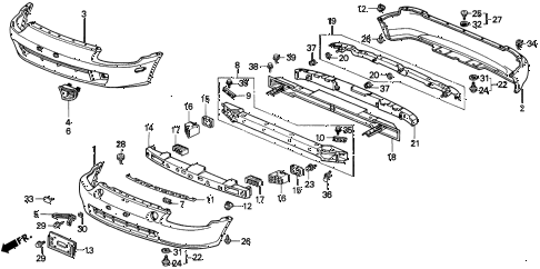 1995 del SI 2 DOOR 5MT BUMPER diagram