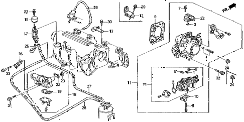 1993 del S 2 DOOR 5MT THROTTLE BODY (1) diagram