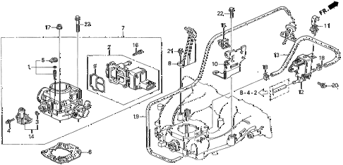1997 del S 2 DOOR 4AT THROTTLE BODY (2) diagram