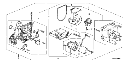 1997 del S 2 DOOR 4AT DISTRIBUTOR (TEC) diagram