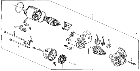 1994 del SI 2 DOOR 4AT STARTER MOTOR (DENSO) (1) diagram