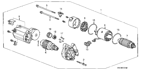 1994 del S 2 DOOR 5MT STARTER MOTOR (DENSO) (2) diagram