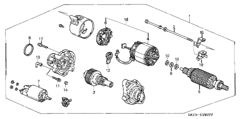 1994 del S 2 DOOR 5MT STARTER MOTOR (MITSUBA) (1) diagram